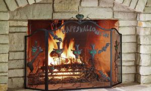 16 Unique Iron Fireplace Screen