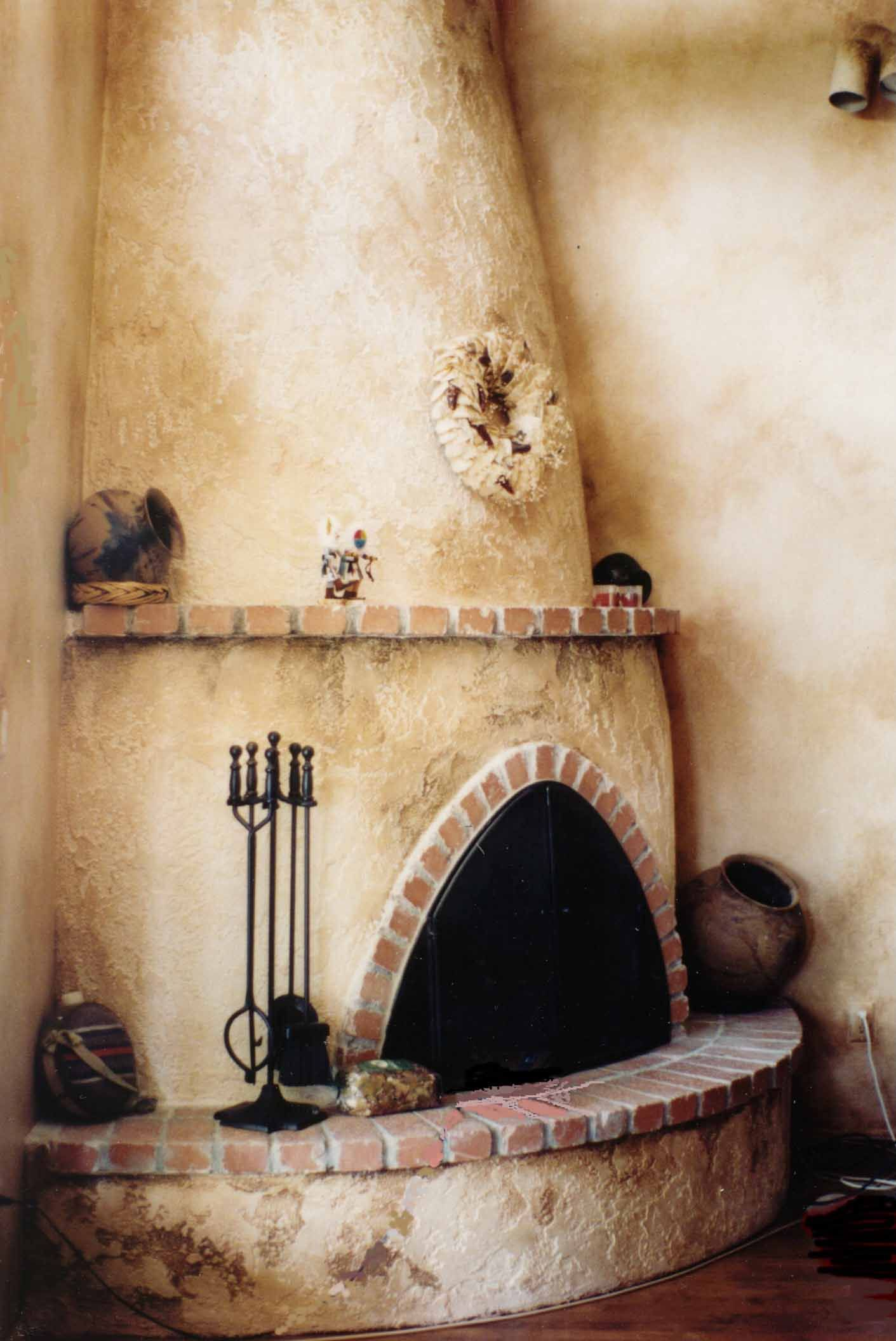 Kiva Fireplace Awesome Faux Painted Fireplace
