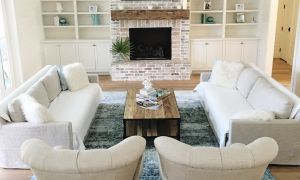 10 Beautiful Living Room Layout with Corner Fireplace