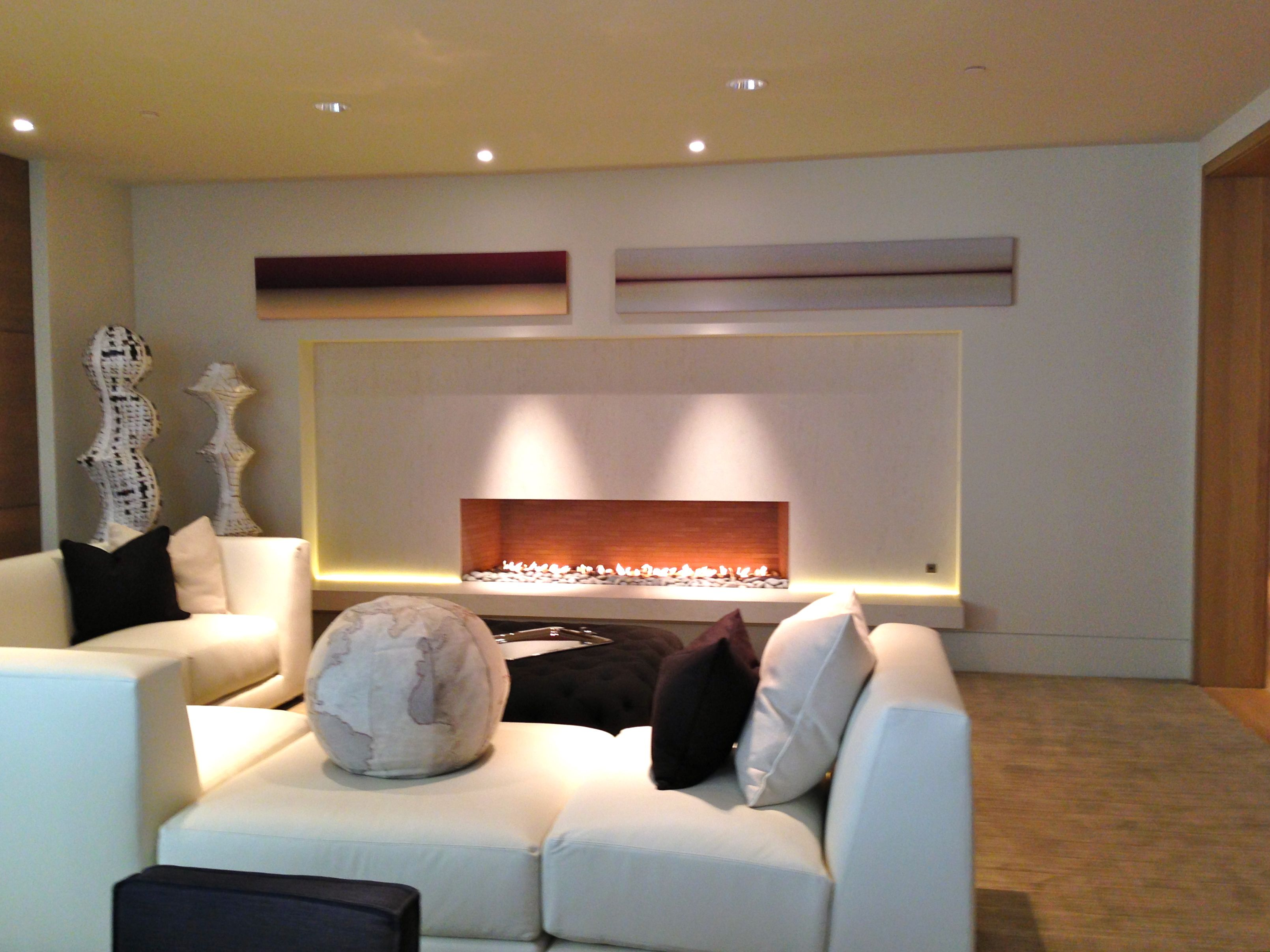 Long Fireplace Beautiful 8 Ft Long Linear Open Living Room Fireplace