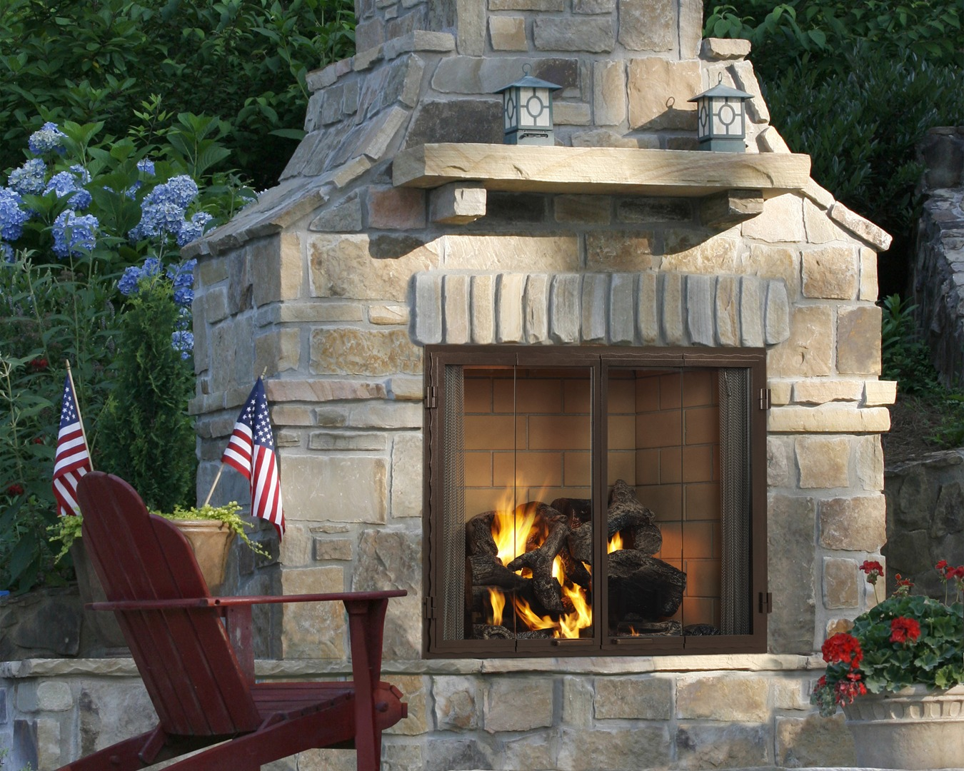 Outdoor Wood Burning Fireplace Type