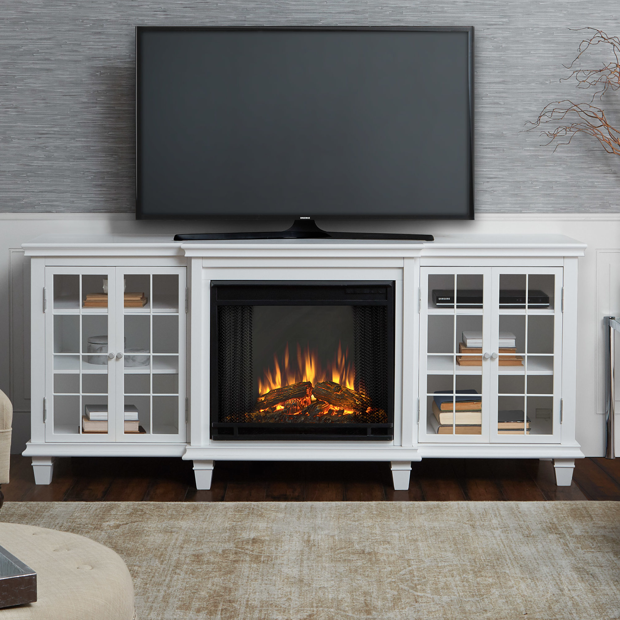 entertainment center with fireplace insert plans