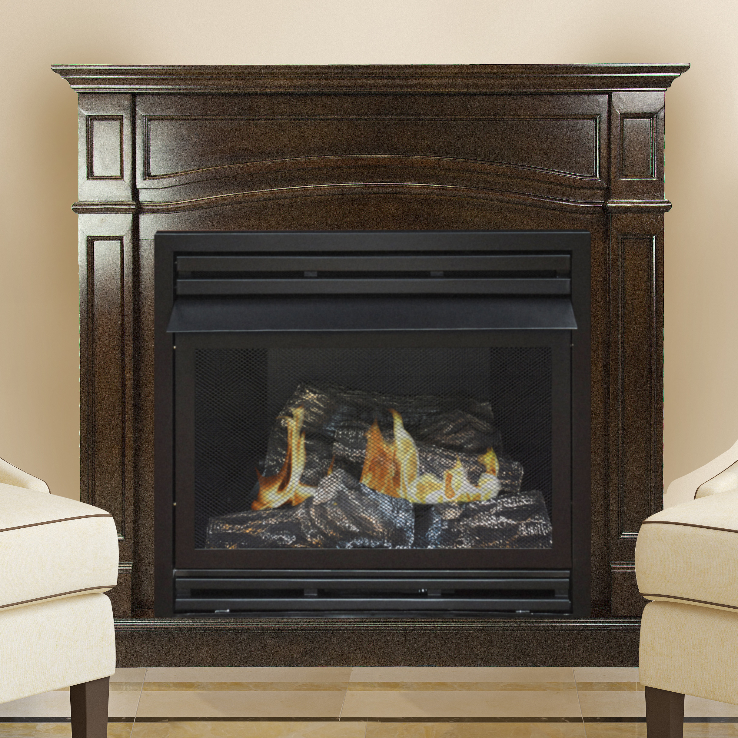 Mendota Fireplace Price List Unique Pleasant Hearth 46 In Natural Gas Full Size Cherry Vent Free Fireplace System 32 000 Btu
