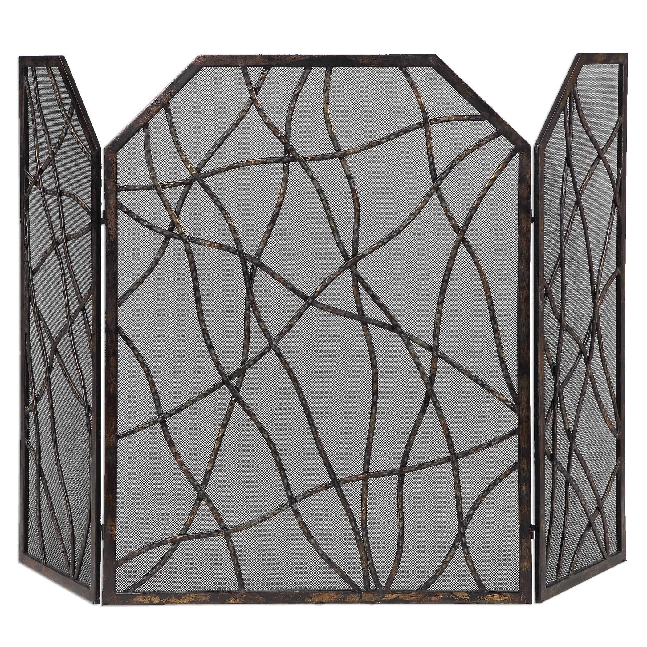Mesh Fireplace Screen Elegant Uttermost Dorigrass Fireplace Screen Want It