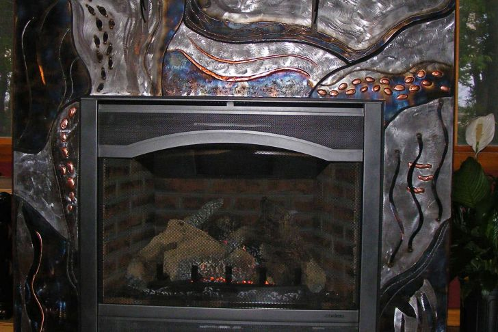 Metal Fireplace Surround Luxury Steel and Copper Metal Fireplace Surround