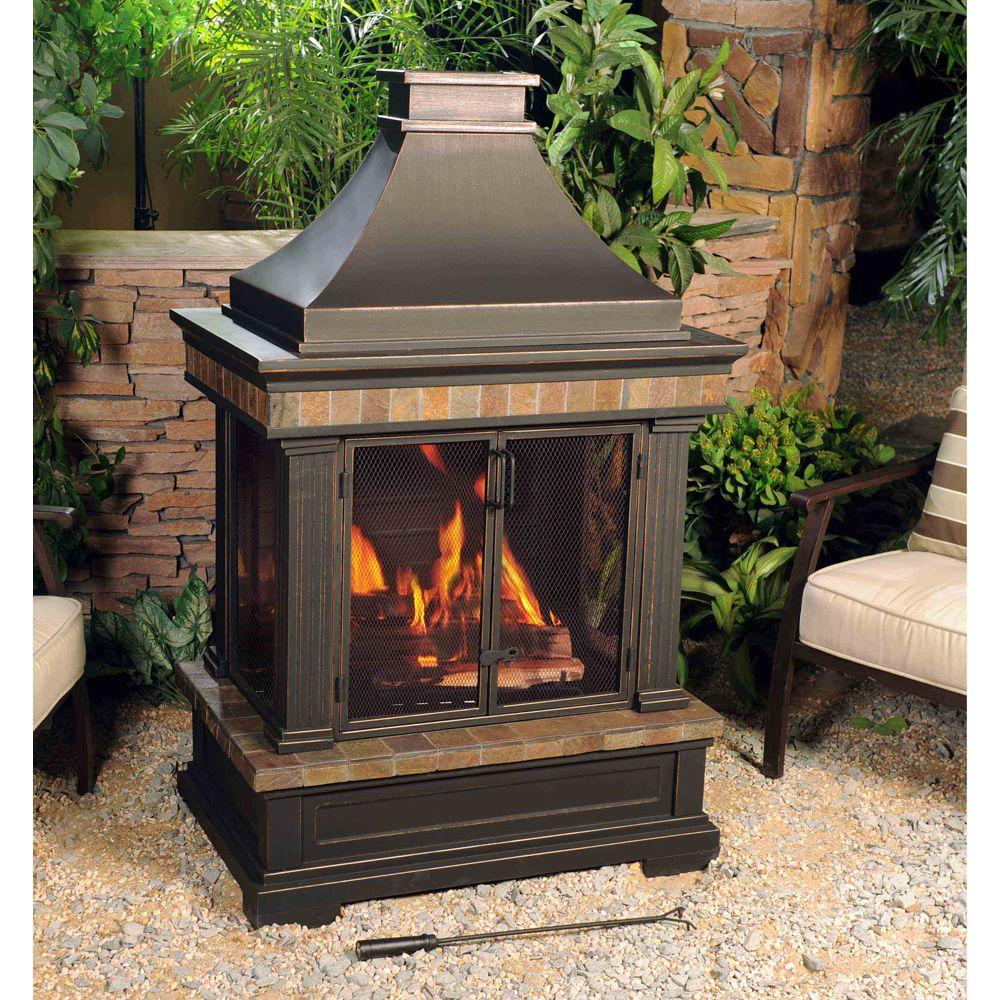 sunjoy outdoor fireplaces l of082pst 3 31 1000