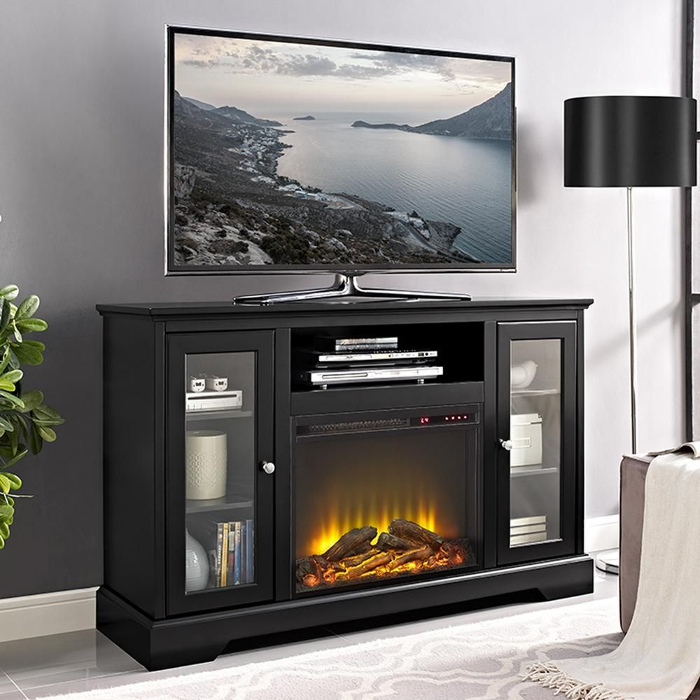 Mirrored Tv Stand with Fireplace Elegant Walker Edison Furniture Pany 52 In Highboy Fireplace