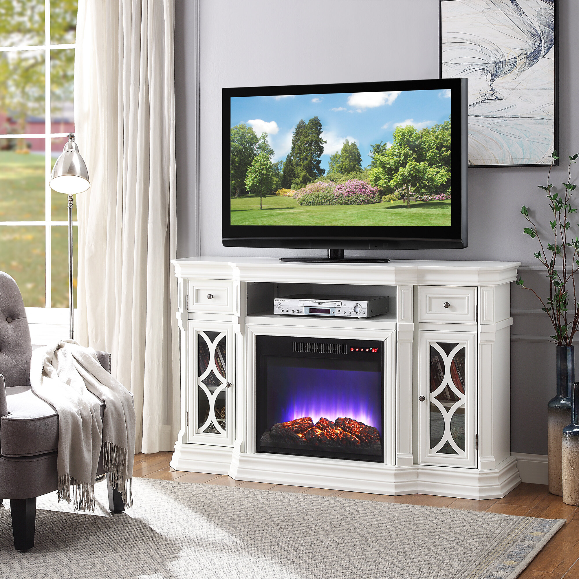 amaia tv stand for tvs up to 65 with fireplace