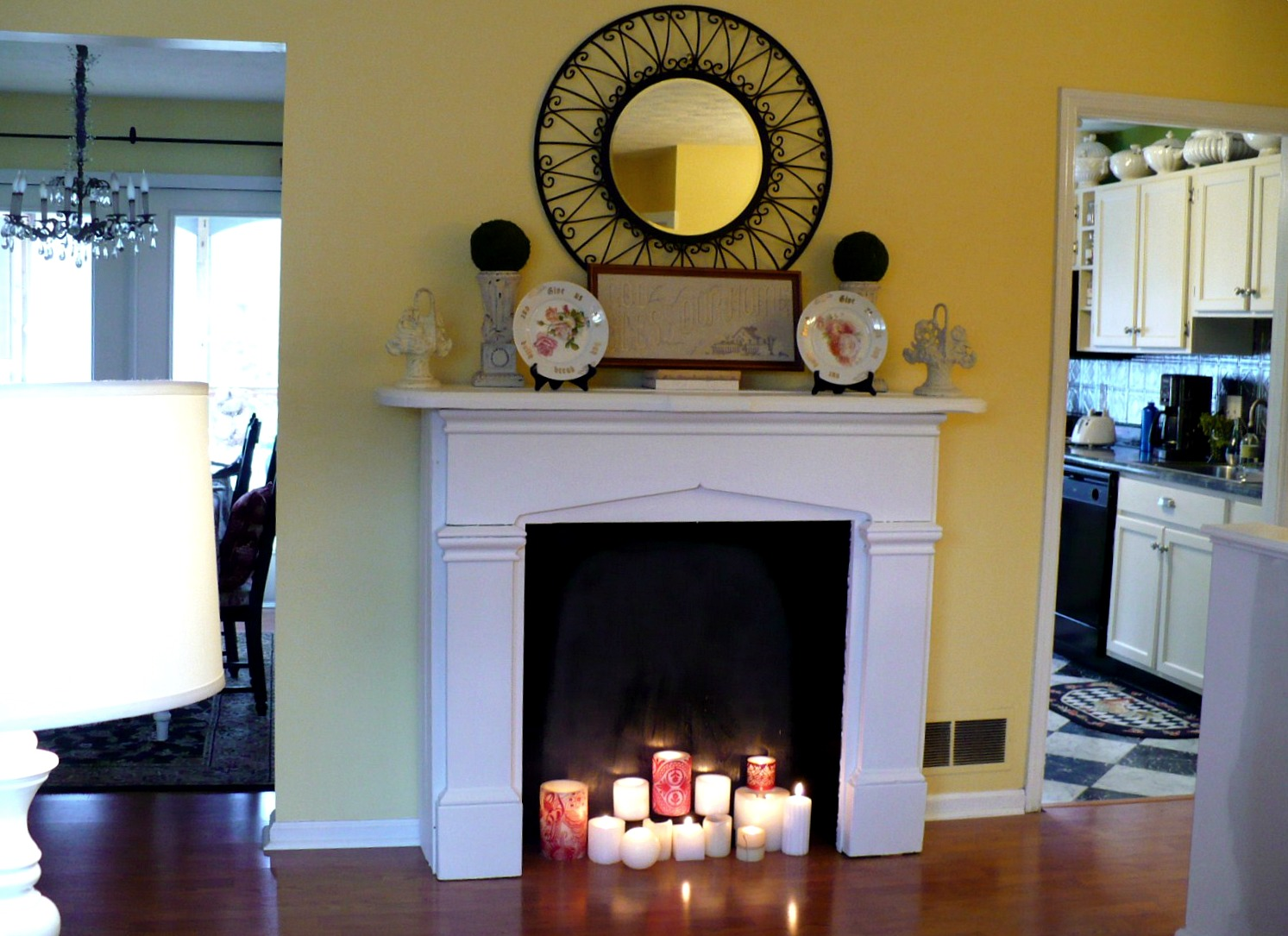decorate your fake fireplace mantel make faux