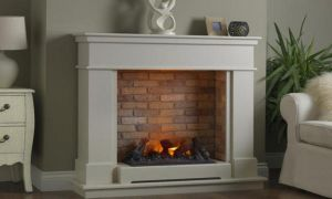 24 Elegant Modern Electric Fireplace with Mantel