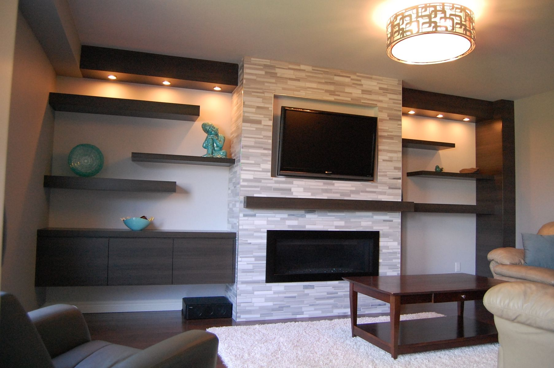 Modern Entertainment Center with Fireplace Elegant Custom Modern Wall Unit Made Pletely From A Printed