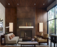 Modern Wall Fireplace Elegant Wood Panel Wall for Fireplace