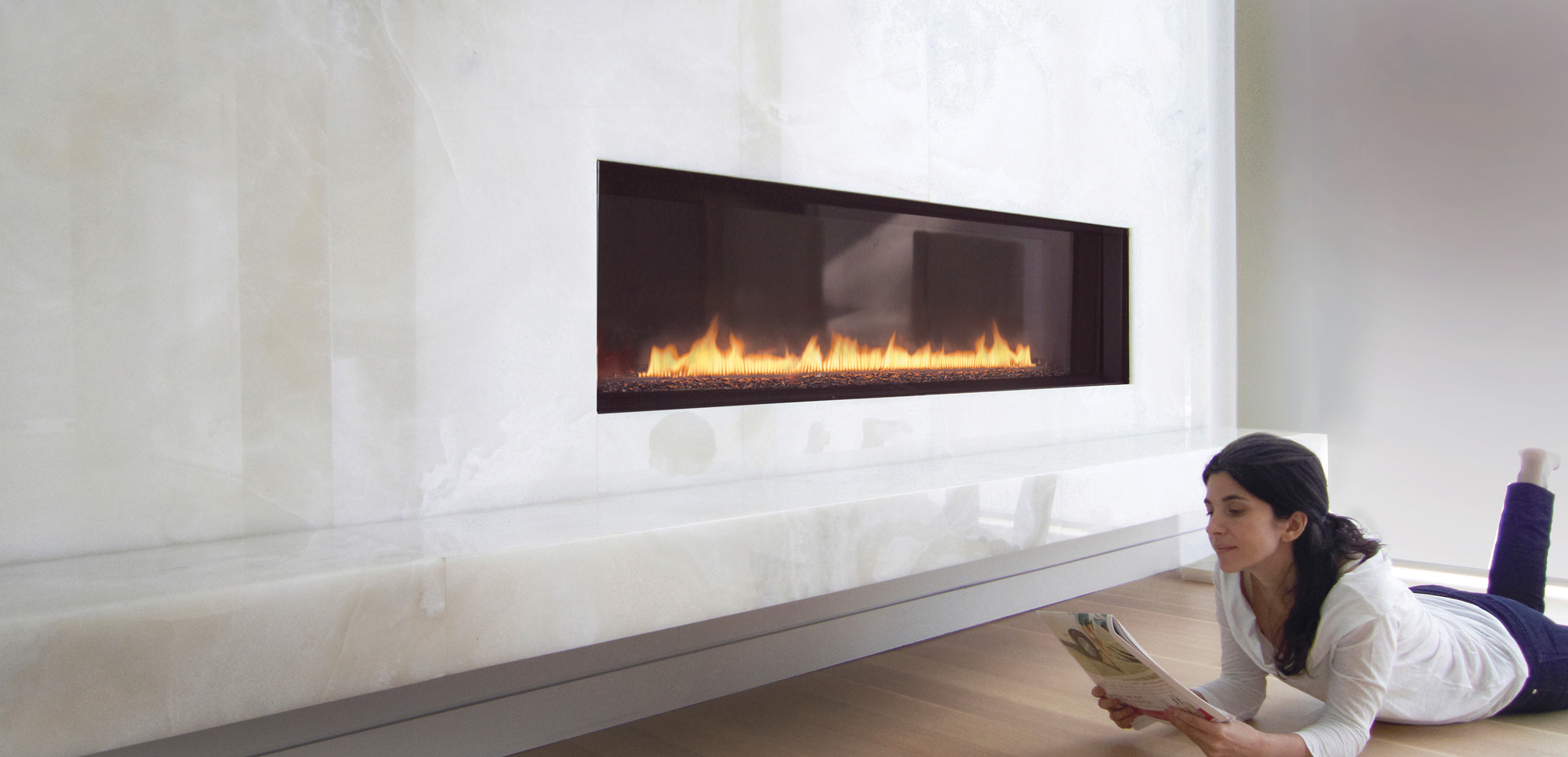 Narrow Gas Fireplace Luxury Spark Modern Fires