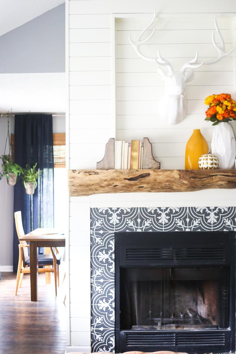 diy wood mantel 10 of 11