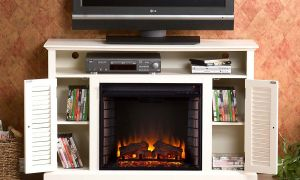 25 Luxury Off White Electric Fireplace