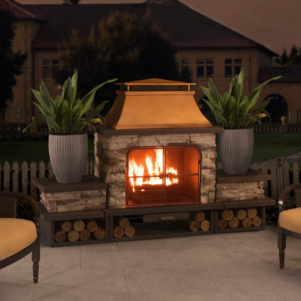 sunjoy outdoor fireplaces 31 1000