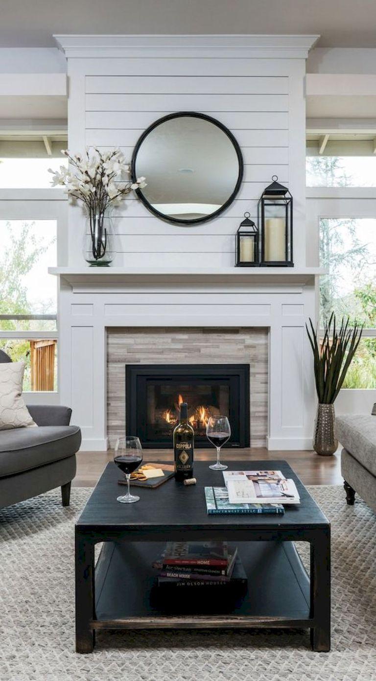 Over Fireplace Decor Beautiful 33 Gorgeous Farmhouse Fireplace Decor Ideas and Design 16