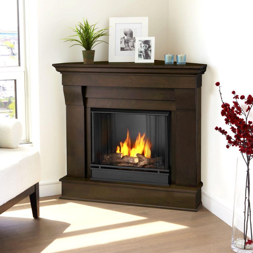 walnut real flame gel fireplaces 5950 dw 64 1000