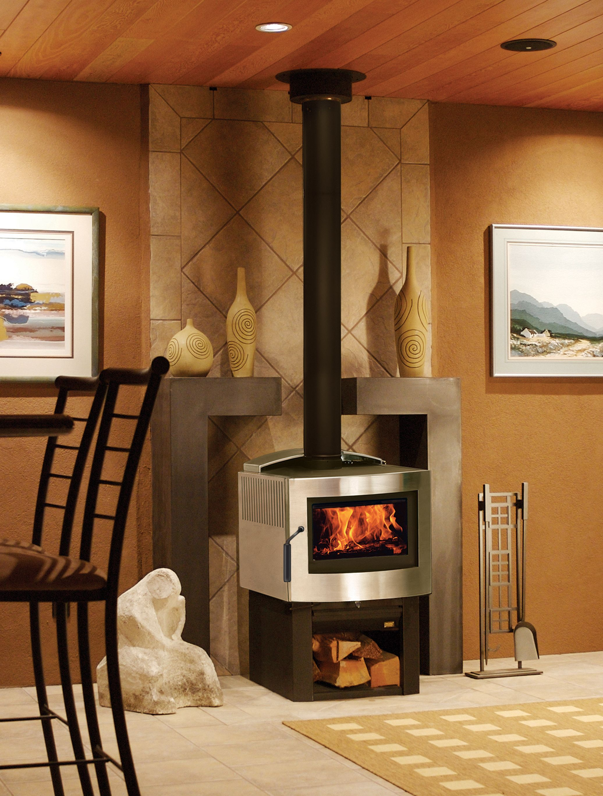 Pacific Energy Fireplace Fresh Pacific Energy Fusion Woodstove In Stainless Steel Finish