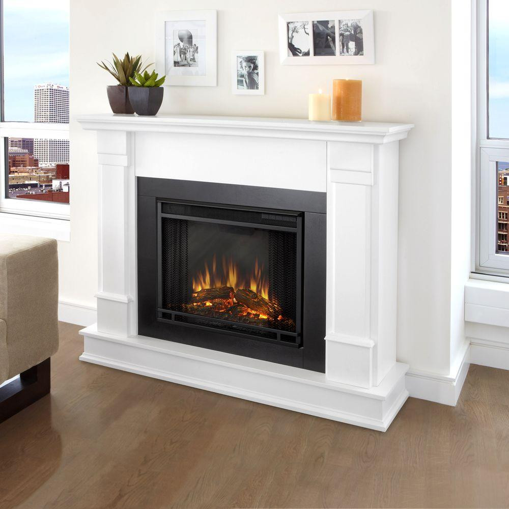 hardwood floor fireplace transition of electric fireplaces fireplaces the home depot within silverton 48 in electric fireplace in white