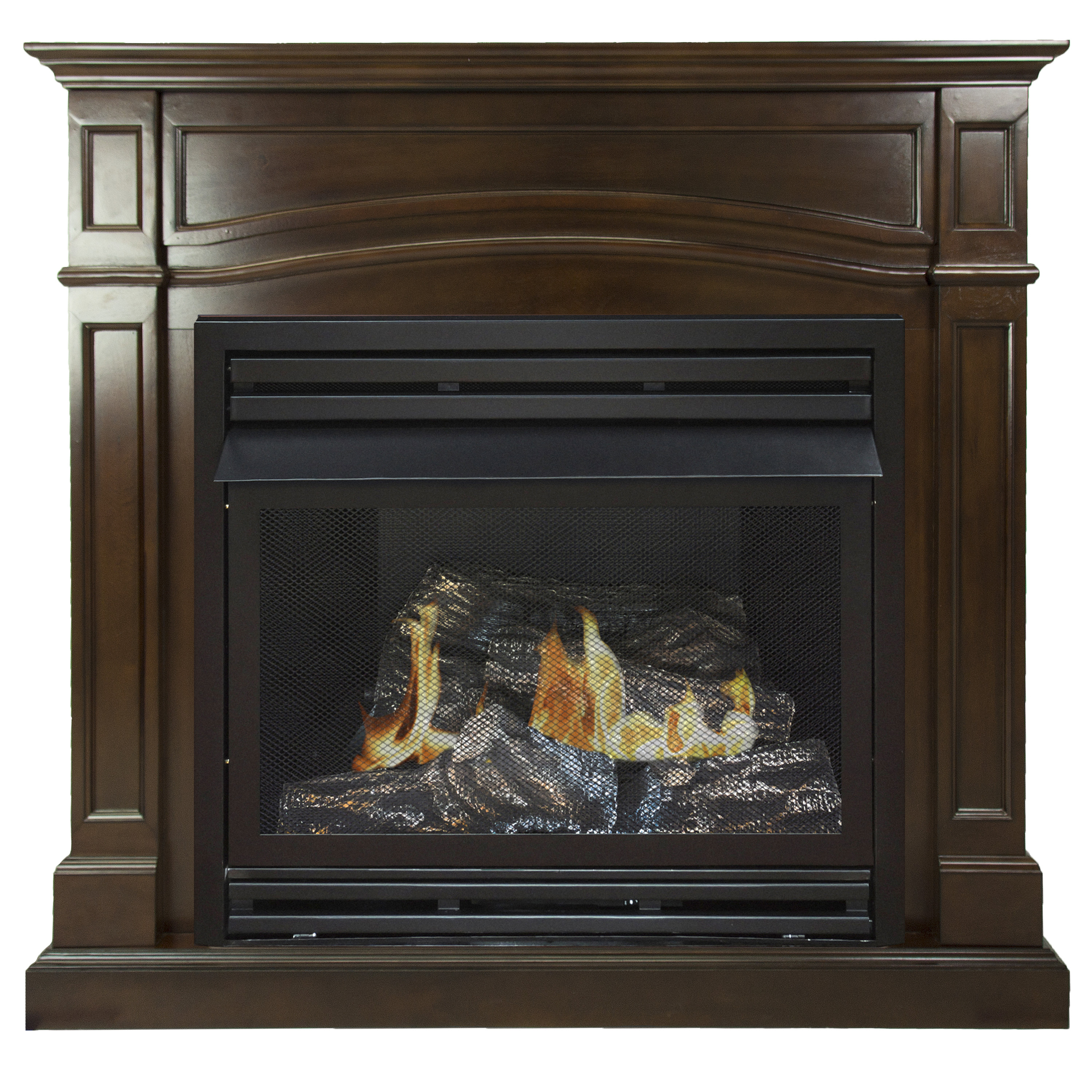 Pleasant Hearth Gas Fireplace New Pleasant Hearth 46 In Natural Gas Full Size Cherry Vent Free Fireplace System 32 000 Btu