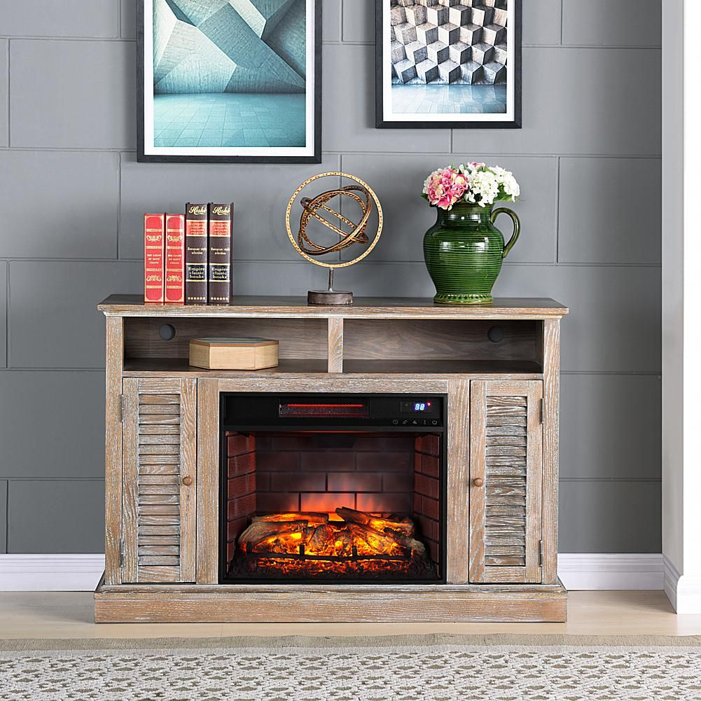 Plow and Hearth Electric Fireplace Awesome Antebellum Infrared Fireplace Tv Stand Burnt Oak