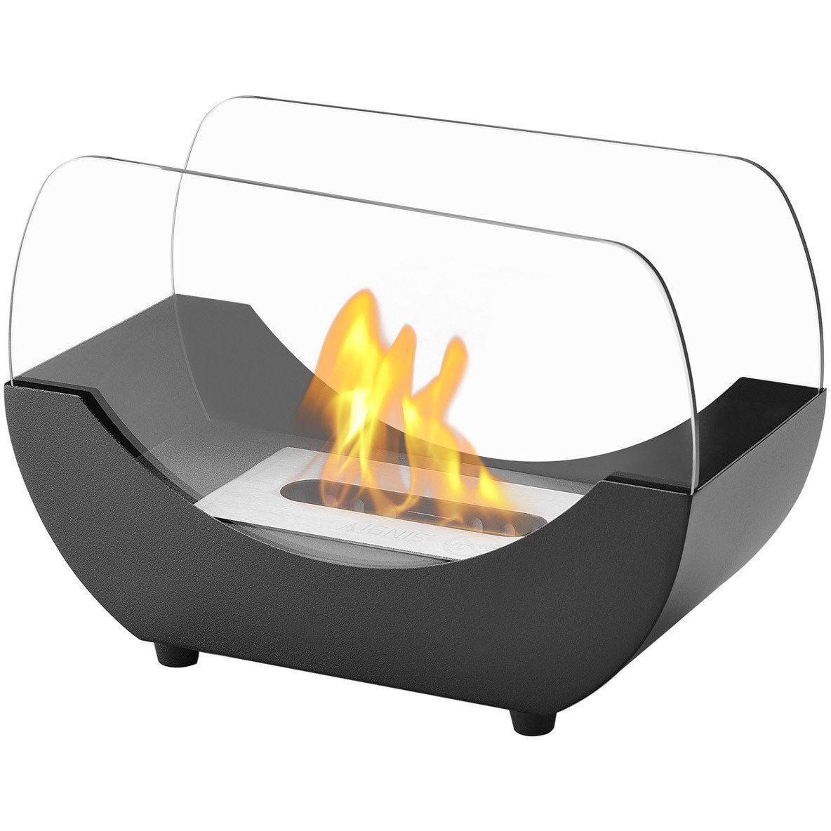 Portable Tabletop Fireplace Awesome Liberty Black Tabletop Ventless Ethanol Fireplace