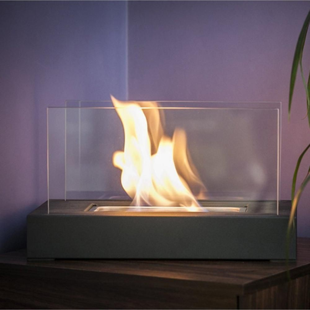 tabletop fireplace lovely vigo 14 in vent free ethanol fireplace in black of tabletop fireplace