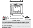 Preway Fireplace Company Best Of Harman Oakwood Cast Iron Wood Stove Safety Notice