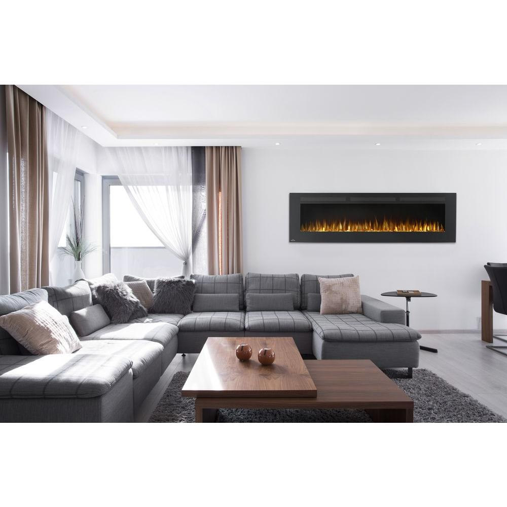black napoleon wall mounted electric fireplaces nefl72fh 64 1000