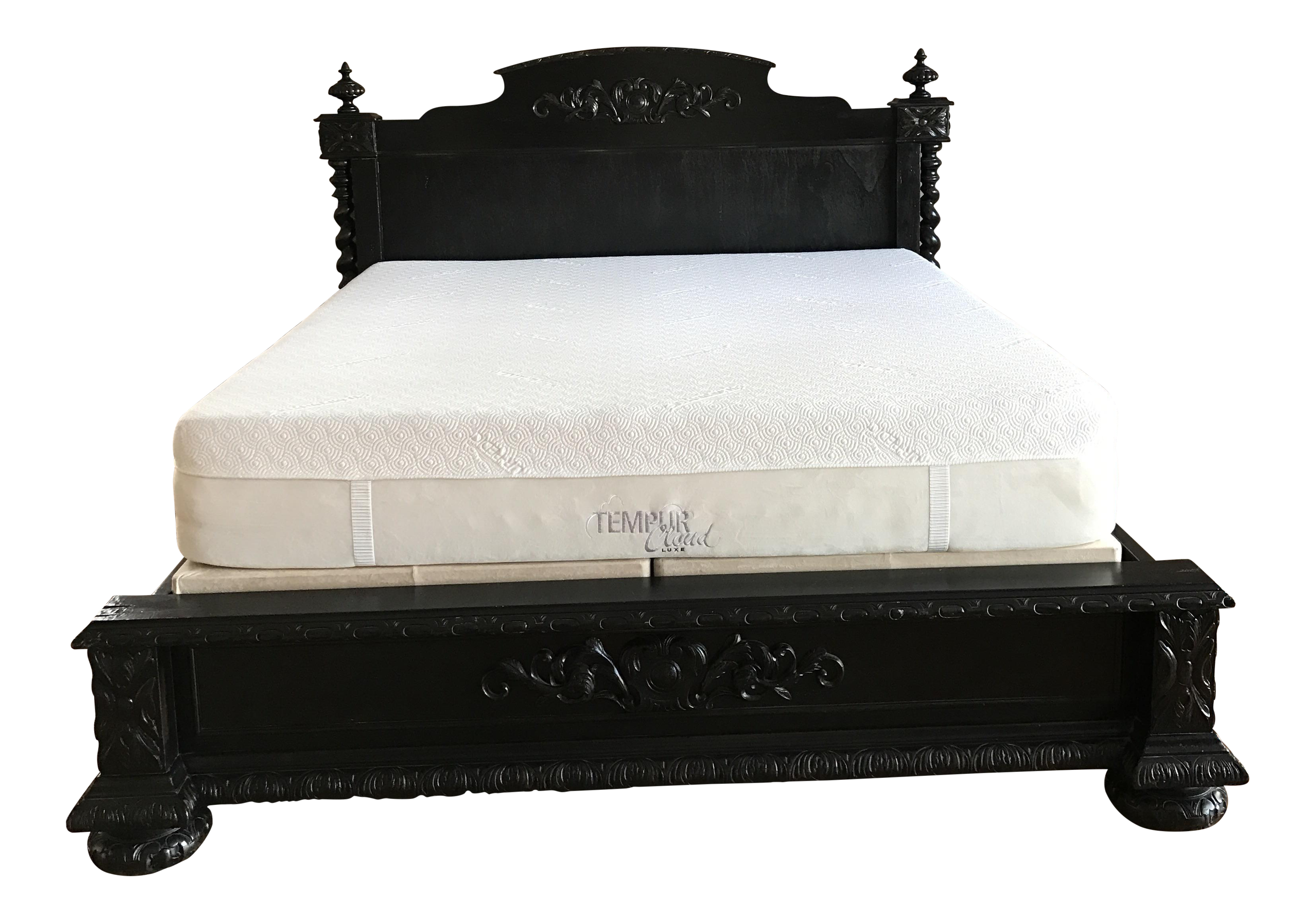 restoration hardware french empire panel bed king antiqued black 8920