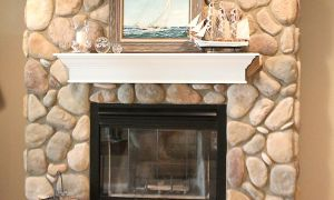 14 Inspirational Rock Fireplace Makeover