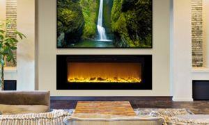 18 Luxury Round Electric Fireplace