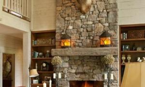 20 Luxury Rustic Fireplace Ideas