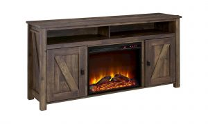 26 Lovely Rustic Wood Electric Fireplace