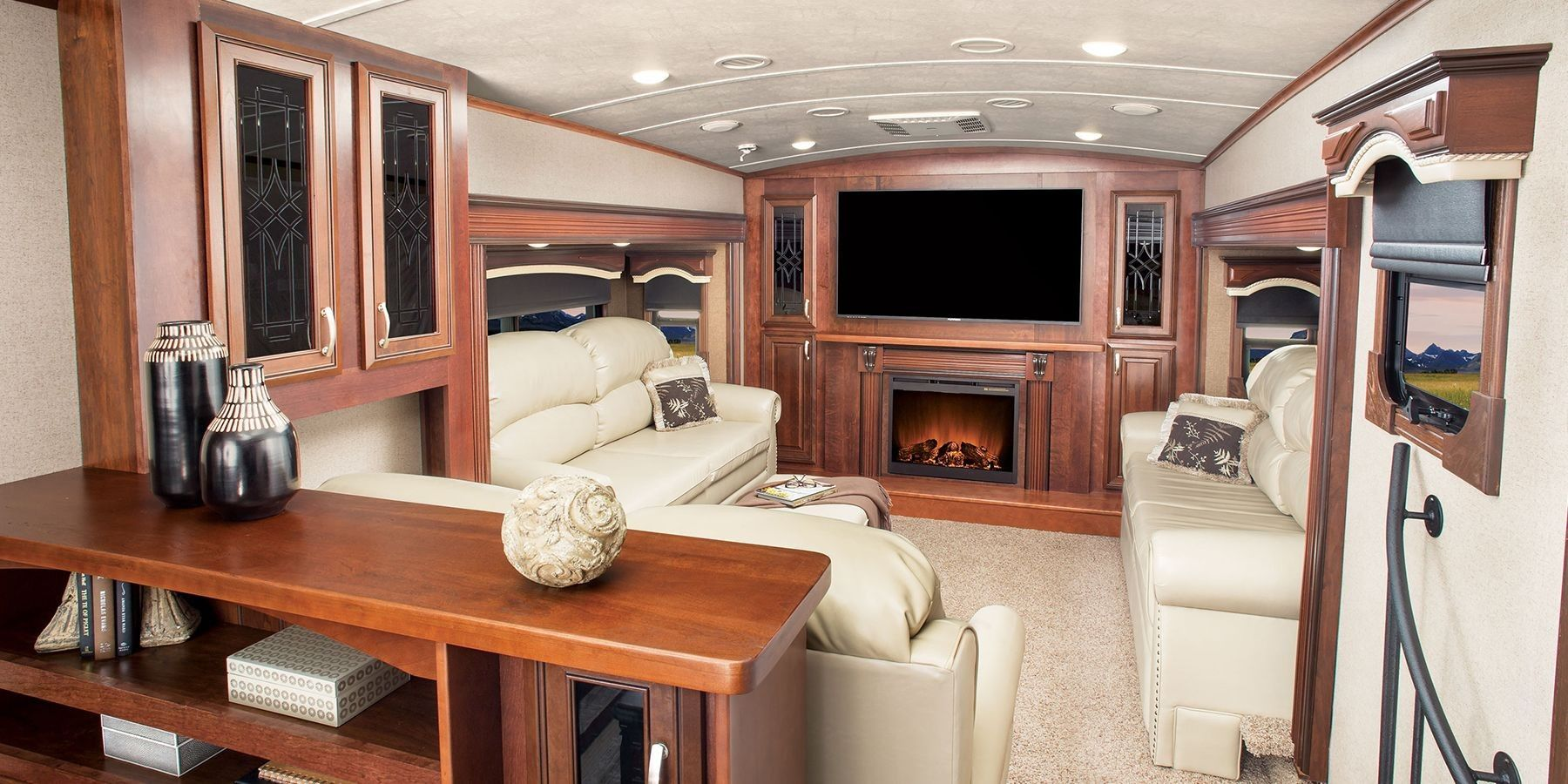Rv Fireplace Lovely 20 Awesome Camper Fireplace Ideas Guide