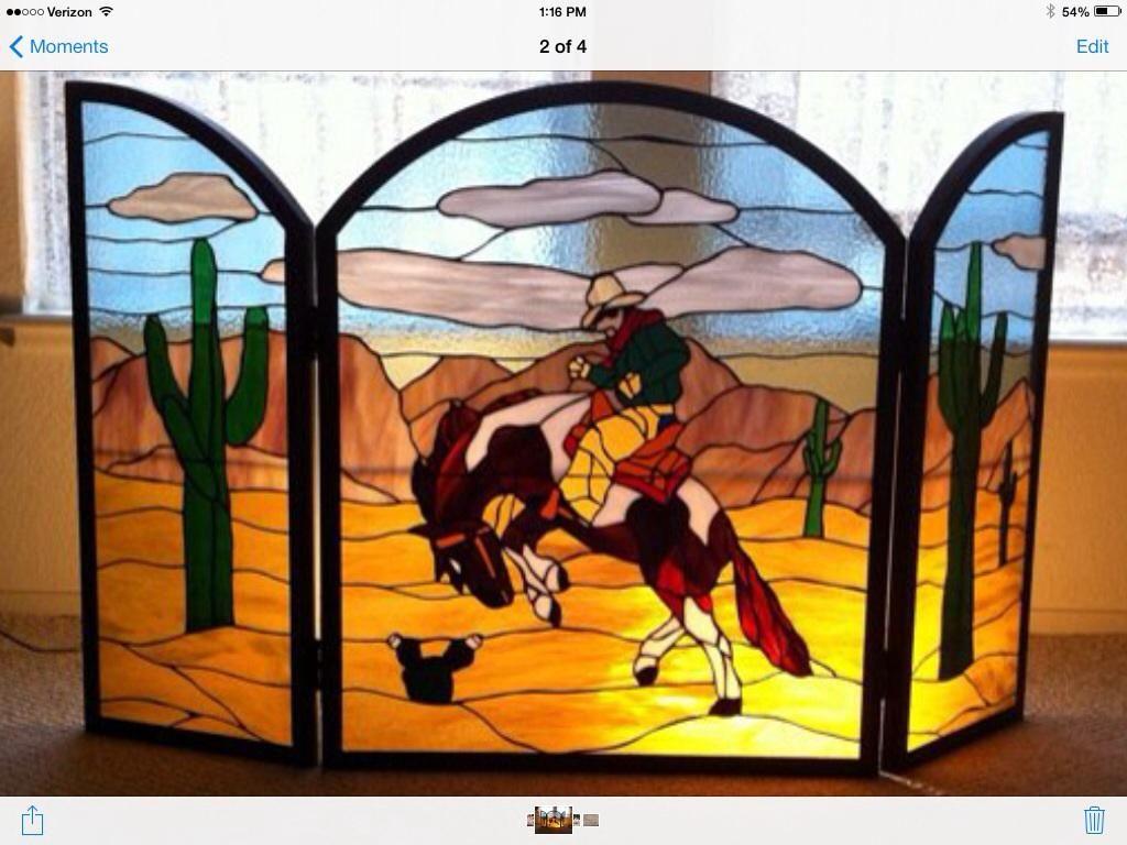 Seventh Avenue Fireplaces Elegant Ride Em Cowboy Fireplace Screen From Delphi Artist
