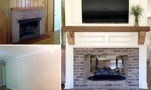 24 Beautiful Single Brick Fireplace