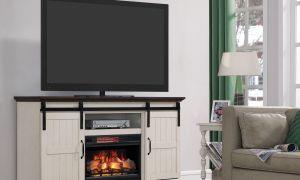 22 Elegant Sliding Barn Door Fireplace Tv Stand