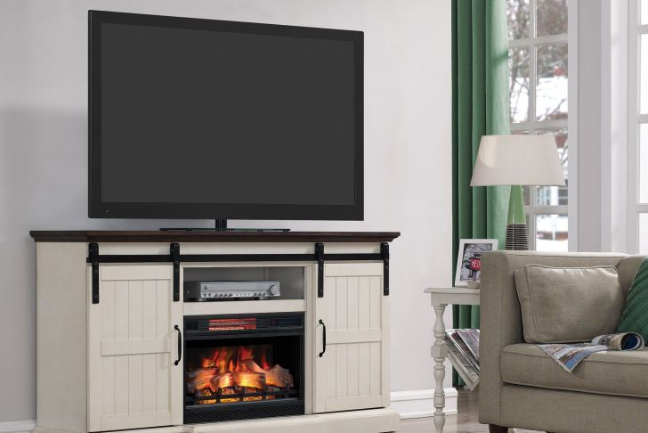 "Sliding Barn Door Tv Stand with Fireplace New Glendora 66 5"" Tv Stand with Electric Fireplace"