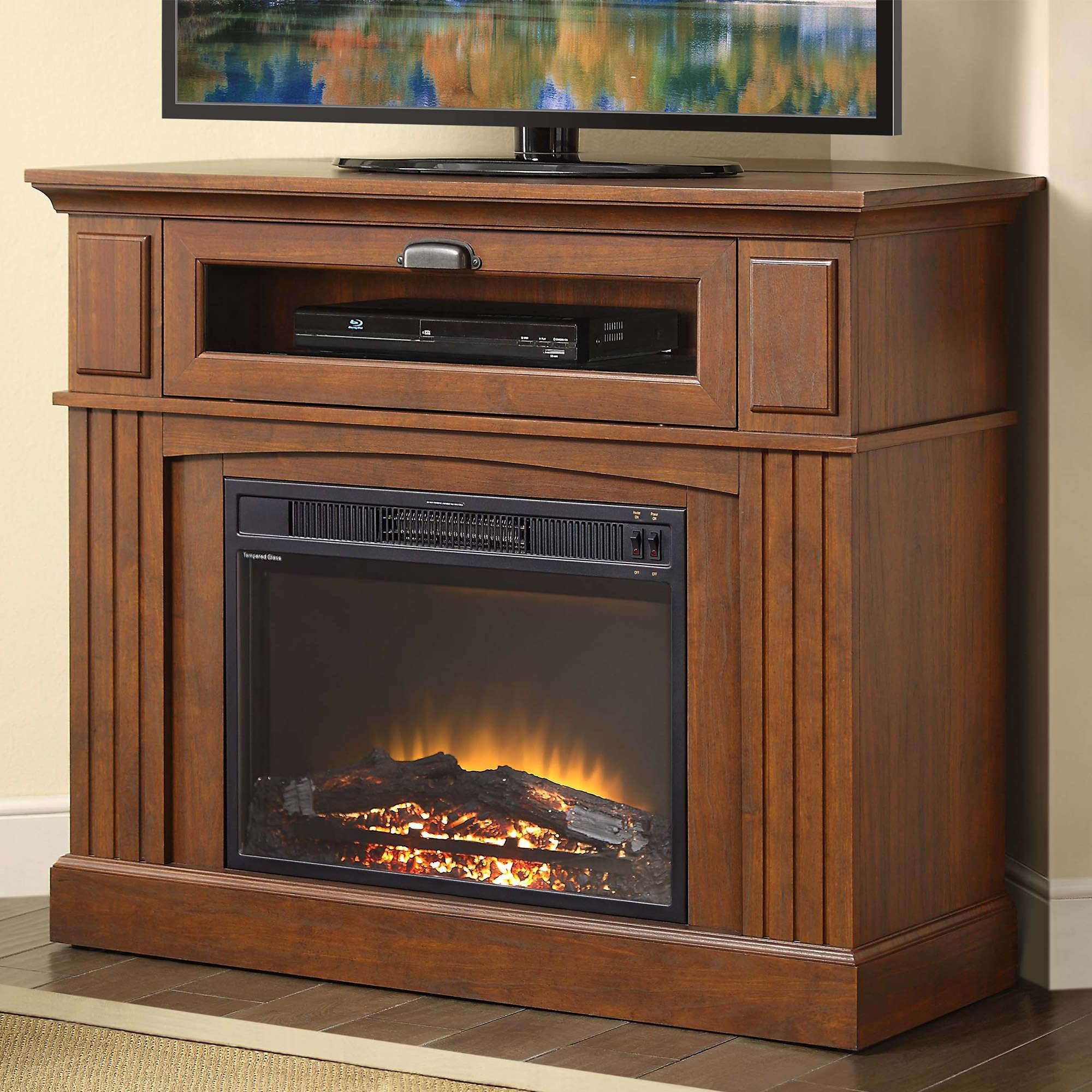 whalen corner electric fireplace tv stand