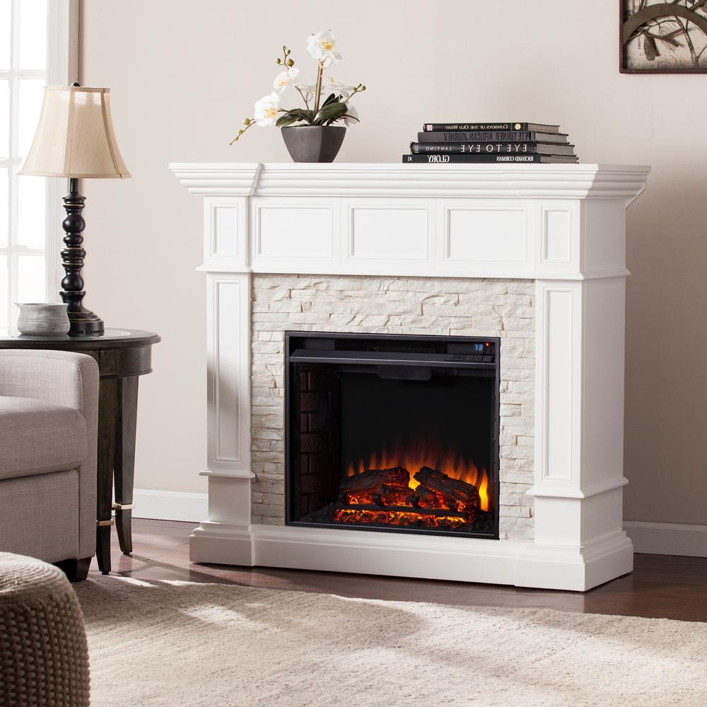 Small Corner Electric Fireplace Fresh Amesbury 45 5 In W Corner Convertible Electric Fireplace In White