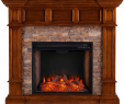Small Electric Wall Fireplace Luxury southern Enterprises Merrimack Simulated Stone Convertible Electric Fireplace