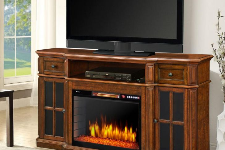 Solid Wood Entertainment Center with Fireplace Best Of Sinclair 60 In Bluetooth Media Electric Fireplace Tv Stand In Aged Cherry