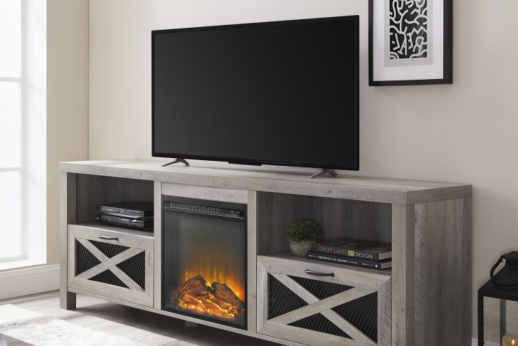 "Solid Wood Tv Stand with Fireplace Unique Tansey Tv Stand for Tvs Up to 70"" with Electric Fireplace"