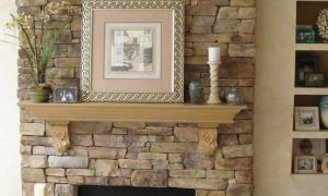 21 Lovely Stacked Stone Fireplace