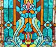 """Stained Glass Fireplace Screen Elegant 28""""h Tiffany Style Stained Glass Fleur De Lis Fireplace Screen Green 44""""w X 28""""h"""