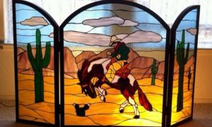 14 Fresh Stained Glass Fireplace Screen