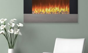 14 New Stainless Steel Electric Fireplace