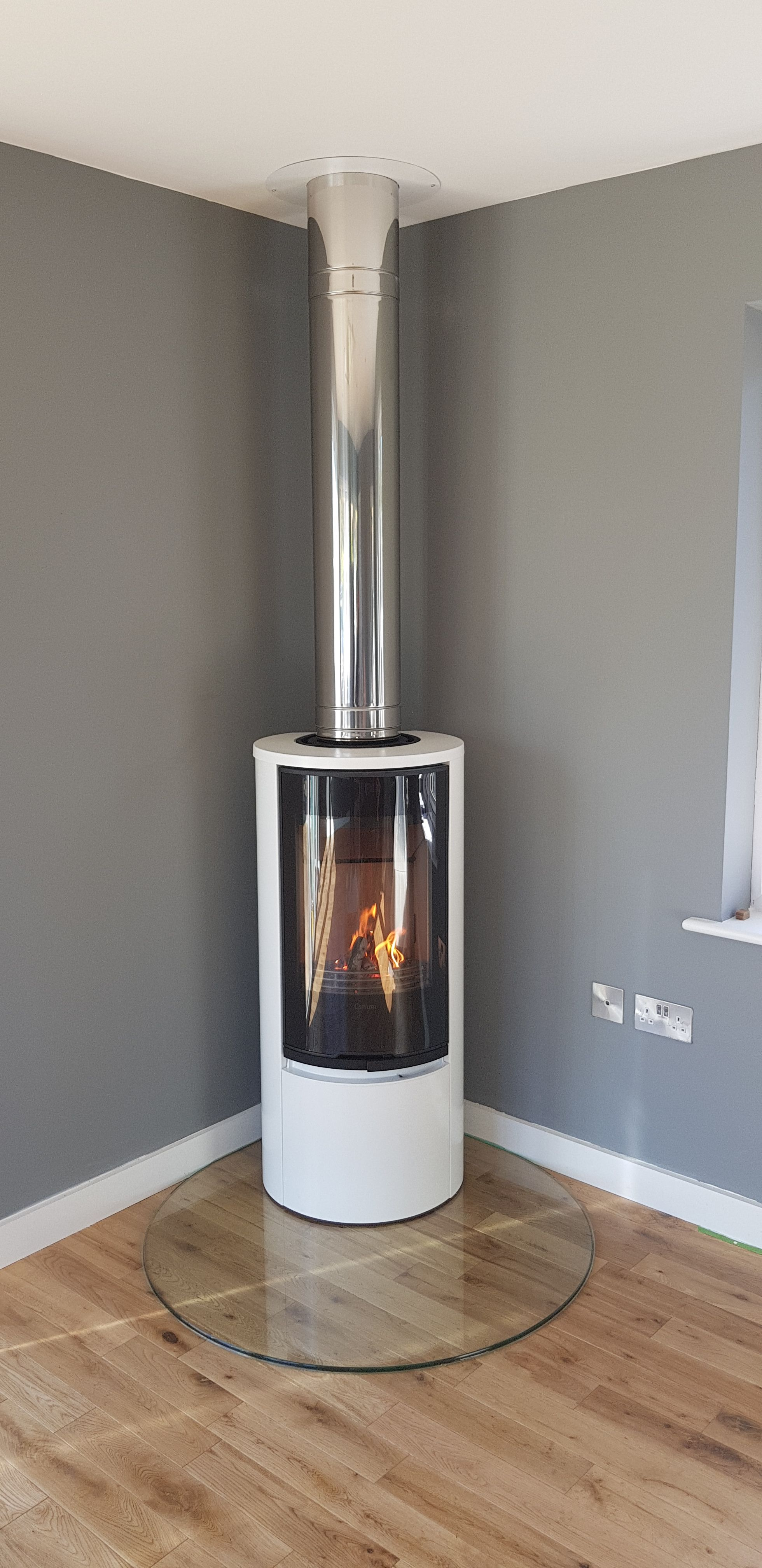 Stainless Steel Fireplace New Recent Installation by Our Team Of This Beautiful Contura
